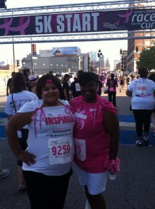 Me at 5K Susan Komen walk, August, 2013